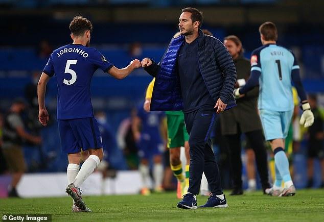 Jorginho was a regular for Frank Lampard despite being so closely associated with Sarri