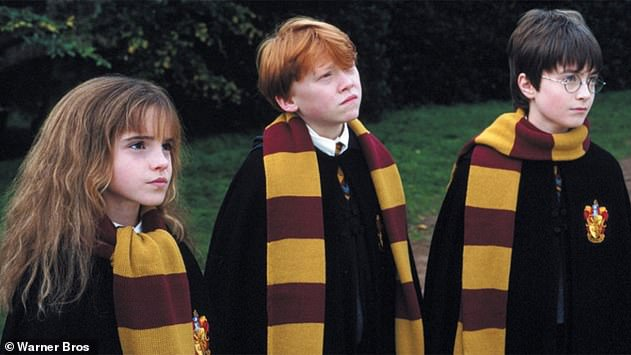 Iconic: Emma famously portrayed beloved brainiac Hermione Granger in the Harry Potter film franchise alongside Rupert Grint andDaniel Radcliffe