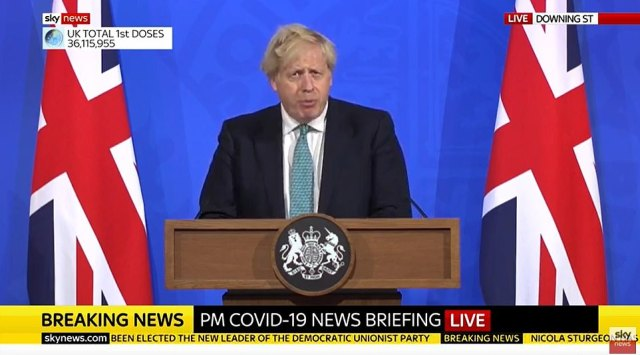 Facing the nation last night he said that Monday's Step 3 easing of restrictions would go ahead as planned. But he told the nation it might face 'hard choices in the weeks ahead' if the variant proved to be far more transmissible than other variants in circulation.