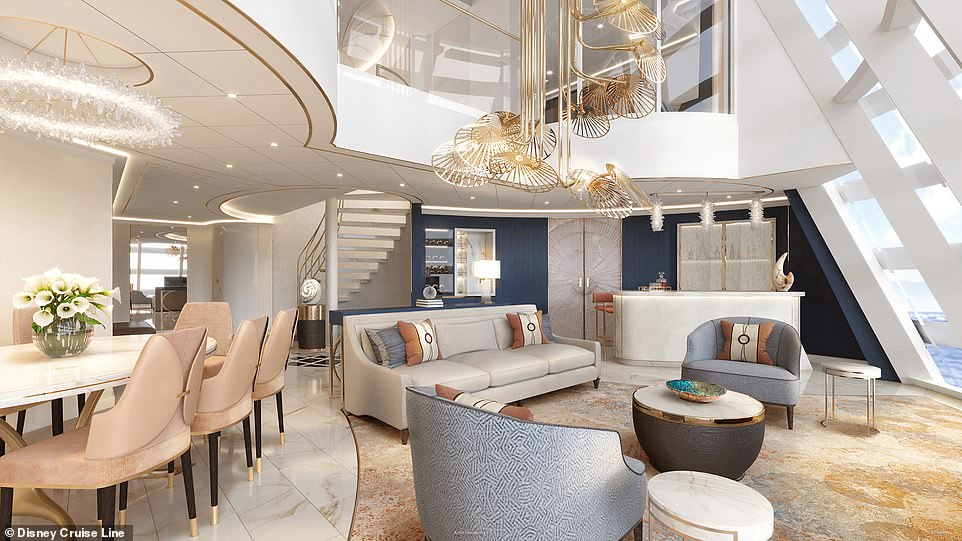 The 'magnificent' living room will be flanked by an open dining area, a large pantry and a bar, all offering 'extraordinary views'