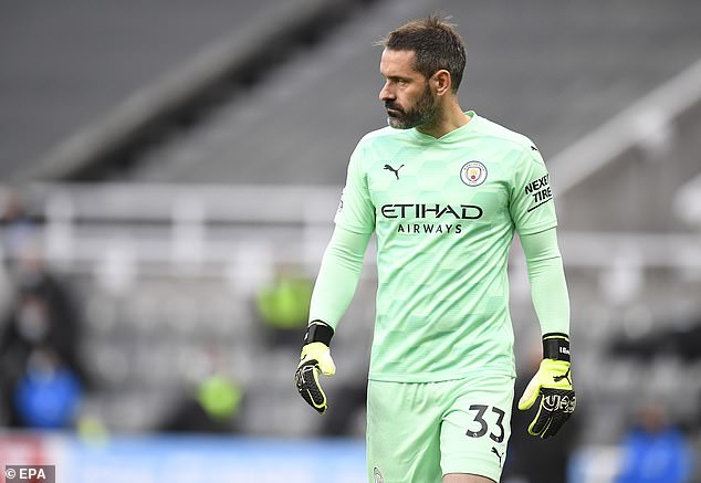 Scott Carson made his first Premier League appearance in 10 years for Man City on Friday