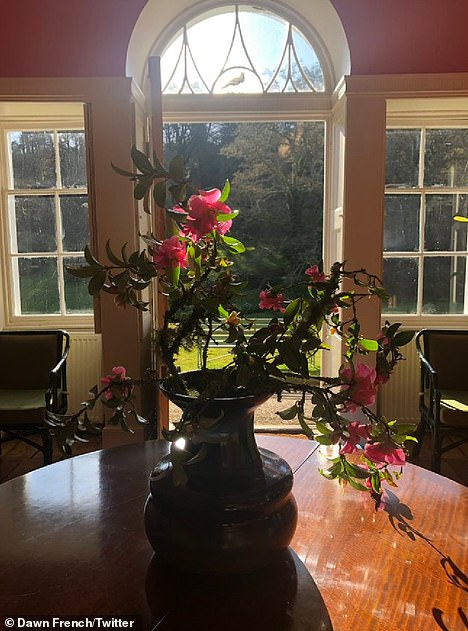 Say it with flowers: One overriding theme in Dawn's snaps of her home was her love of fresh flowers adorning the property