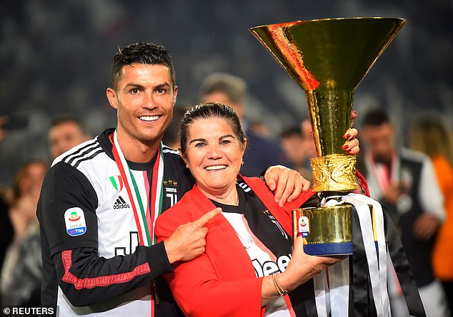 Ronaldo's mother, Dolores Aveiro (right), fuelled rumours of a Sporting Lisbon return this week