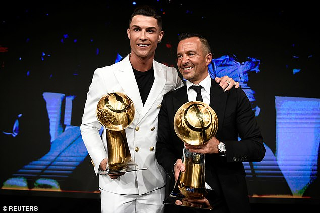 Cristiano Ronaldo (left) will not be returning to Portuguese football this summer, according to his agent Jorge Mendes (right)