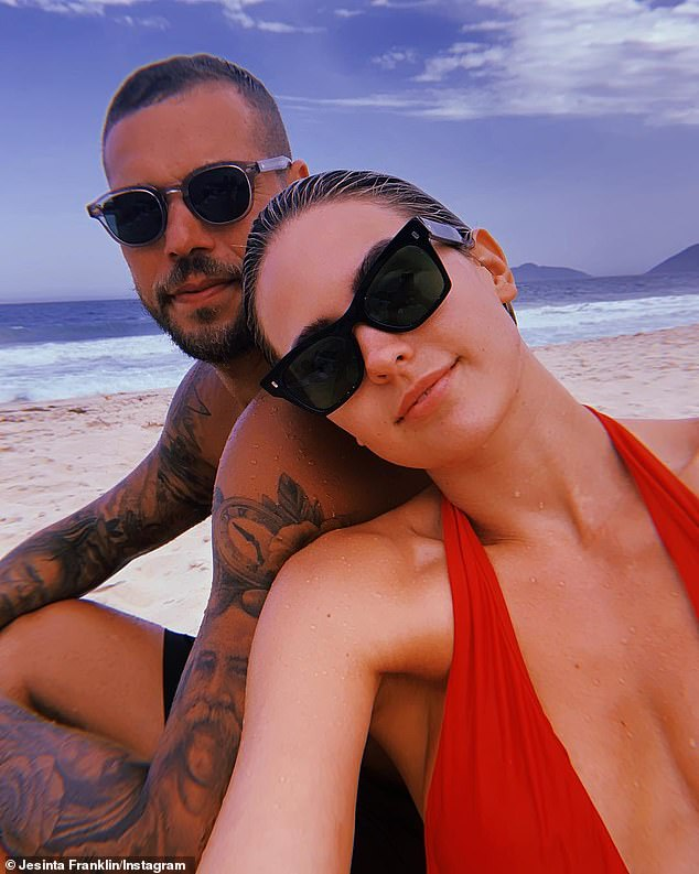 Married life: Jesinta is now married to AFL star Buddy Franklin