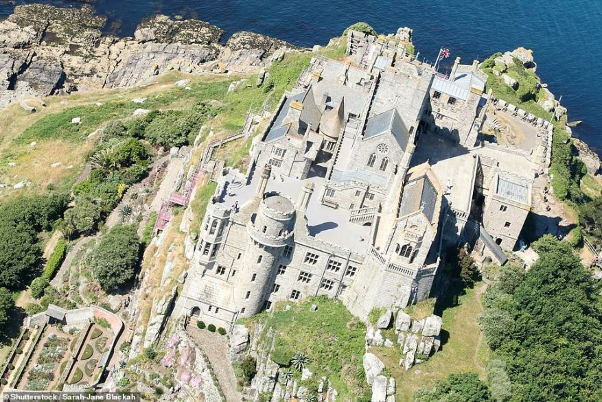 The St Aubyns have lived in the island's historic castle since 1660.James St Aubyn (aka Baron St Levan) and his wife Mary occupy a private apartment in the castle