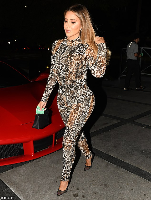 Stepping out: Larsa Pippen was seen heading to dinner with her pal Zana White at Nobu in Miami Beach on Friday night