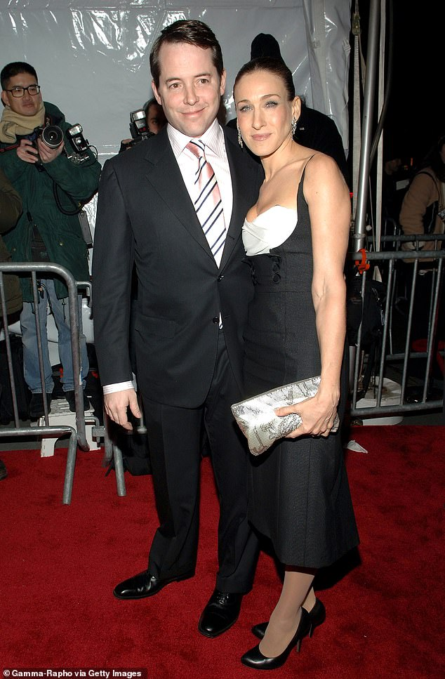 Long-term couple: Parker and her husband met after they were introduced by one of her brothers; they are seen in 2005