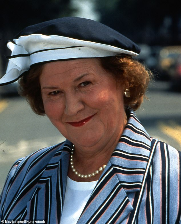 Iconic: The BBC show ran for five series, between 1990 and 1995 and starred Dame Patricia Routledge as an uppity social climber, Hyacinth Bucket (pictured in character on the show)
