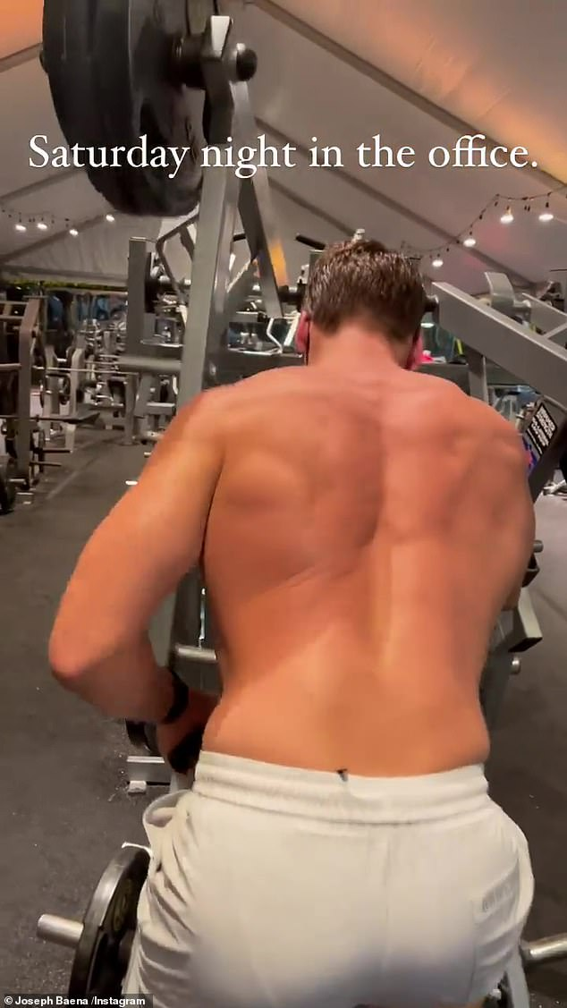 The California native has been chronicling his body transformation in recent years by posting photos and videos taken in the gym on social media