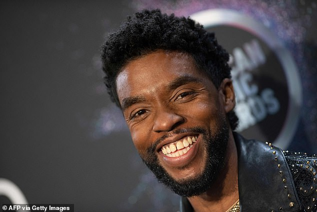 Gone too soon: Boseman, pictured in 2019, was 43 when he passed away last August after a secret four-year battle with colon cancer