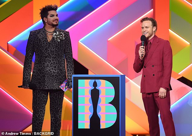 'Low profile': the actress was invited to the BRITs last Tuesday to present the award for best British group alongside Olly and Adam who are her co-stars in the new ITV show Starstruck
