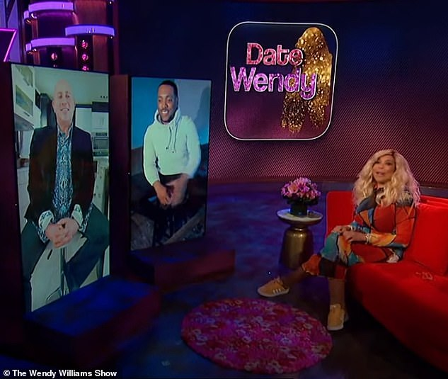 Short-lived: Mike won the virtual Date Wendy segment on the February 26 episode of his eponymous syndicated series