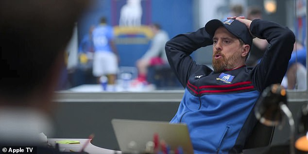 Jets:The final shot shows Ted reacting to Nate's suggestion that the team is, 'unlucky,' stating, 'Back home, if a team was playing poorly, we don't call them unlucky. What do we call them, Coach?' while turning to Coach Beard (Brendan Hunt), who responds, 'New York Jets'