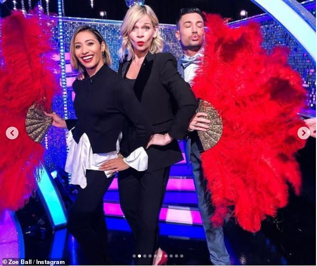 Zoe wrote: 'As a massive @bbcstrictly fan I have loved spending my Autumn teatimes with the celebrity dancers, the gorgeous & awesome pro dancers, the judges, my girl Vicky Gill, Rylan, Gethin & of course my main man Ian Waite'