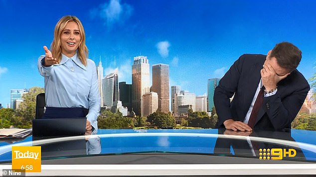 Oh, dear:Today host Karl Stefanovic couldn't stop laughing on Tuesday morning after his co-anchor Allison Langdon admitted she was 'in a bit of a flap'