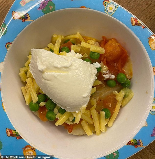 Dr Preeya Alexander, from Melbourne, said her family described the dinner as a 'festival potato' (pictured) and you could include any of your veggies.