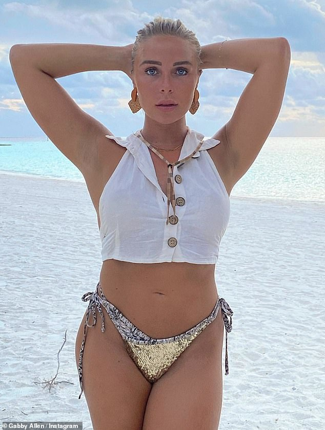 Stunning: Recently, she's also shared a plethora of envy-inducing bikini snaps from their holiday in the Maldives