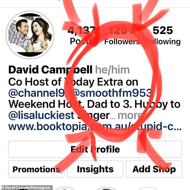 Woke: Campbellmade headlines last week for declaring his gender pronouns as 'he/him' after Instagram introduced a feature allowing users to declare their preferred pronouns