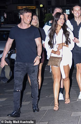 Spotted: Daily Mail Australia has obtained exclusive photos of the Big Brother love birds enjoying a night out in Sydney together earlier this month