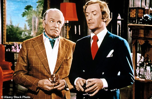 Emphasized: `` I was a bit of an ap ** s artist when I was younger, I drank a bottle of vodka a day and I smoked too, '' he once said (pictured with Laurence Olivier in 1972 )