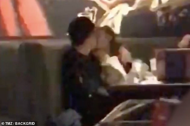Humble roots:The pair were first pictured in February at a gastropub in Los Angeles, where they arrived with a group of friends, but later peeled off to share a smooch in a booth