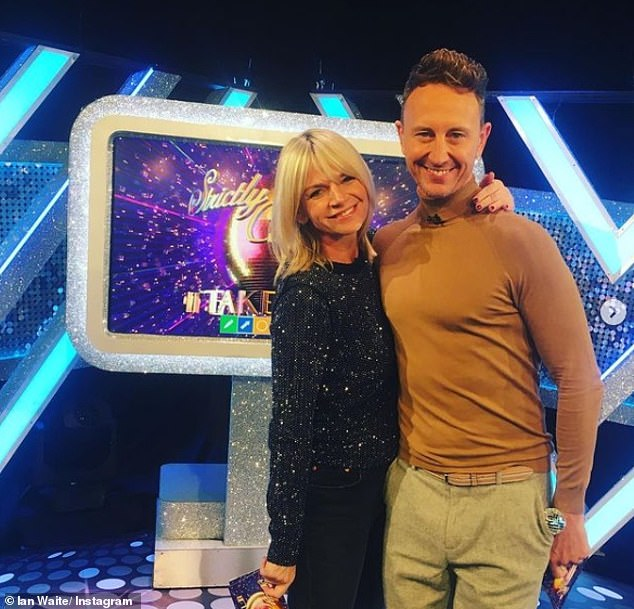Leaving!It comes as Zoe's co-star Ian Waite announced on Monday night that he had also quit the spin-off show after presenting the Waite's Warm Up segment (pictured with Zoe)