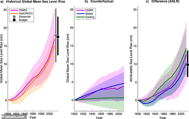 The team looked at global sea levels starting in 1900 through 2000 to understand if a rise may have attributed to more damages during Hurricane Sandy