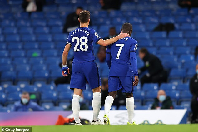 The Blues suffered the blow in the first half of their 2-1 league win against Leicester City