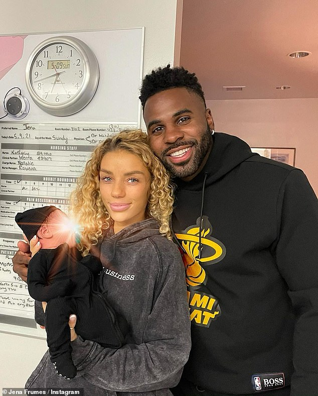 'The happiest day of my life':Jason Derulo and his girlfriend Jena Frumes have welcomed their first child together.