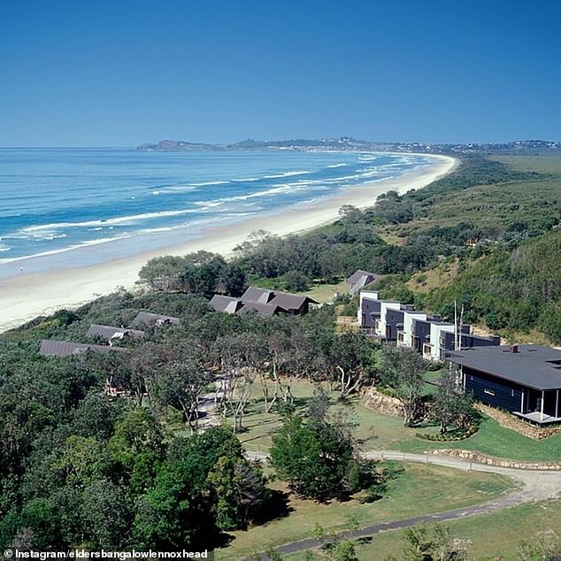 The cause of the uproar: Seven Mile Beach is located south of Broken Head towards Lennox Head, and there is a development application to build 27 new eco-tourist facility cabins on the land and a wellness facility at Linnaeus Estate (pictured)