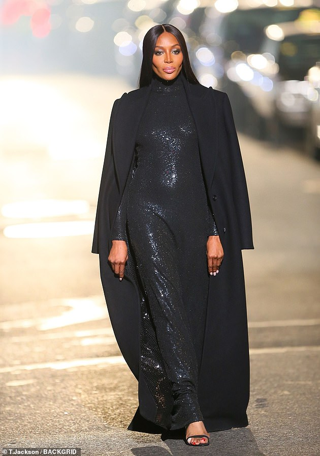 Broody: It comes after Naomi (seen at the Michael Kors show in April) admitted that she would 'think about having children all the time' but wasn't planning to rush herself to start a family
