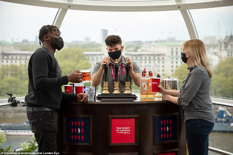 Lastminute.com London Eye has partnered with Beefeater Gin for the concept, so G&Ts will definitely be on offer