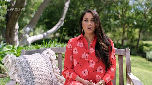 Pregnant Meghan Markle has made an appearance during the Vax Live telecast, claiming COVID has wiped out a generation of progress for women of colour