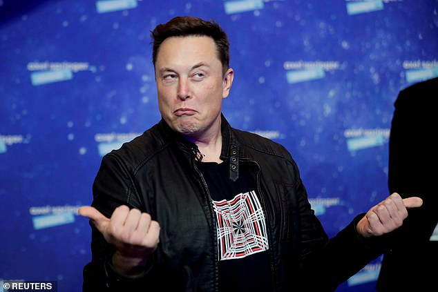 Crashed the market: Musk sent the price of Bitcoin tumbling as much as 15 per cent over the weekend with tweets saying his company Tesla would no longer accept the cryptocurrency from customers