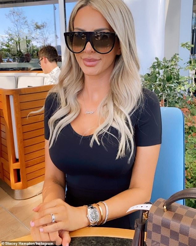 'I make money from social media': Addressing fans on Instagram in June, Stacey told fans that she earns a living from spruiking brands online