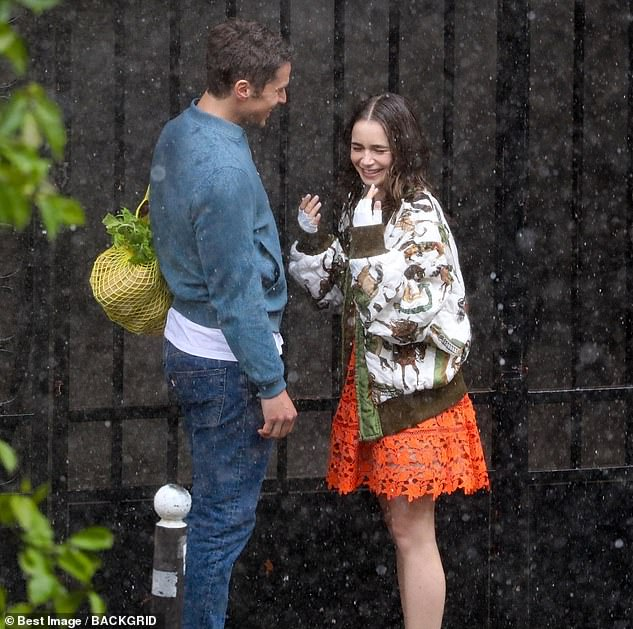 Series two:The status of the two characters' relationship is not known in series two but they appeared to be filming a cosy looking scene where Gabriel pushed back Emily's hair