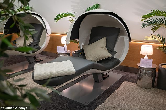 British Airways' new 'Forty Winks' Heathrow nap lounge and its sleep pods