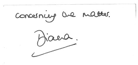 """A letter, which was included as evidence in the Lord Dyson report, written on official Kensington Palace stationery and signed by Diana said: """"Martin Bashir did not show me any documents, nor give me any information that I was not previously aware of. I consented to the interview on Panorama without any undue pressure and have no regrets concerning the matter."""""""