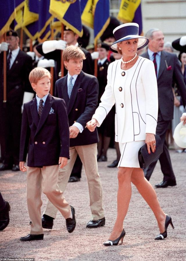 In a statement tonight, Prince William told of his 'indescribable sadness' that the controversial Panorama interview increased his mother's 'fear, paranoia and isolation' in her final years. Pictured: Diana with her sons