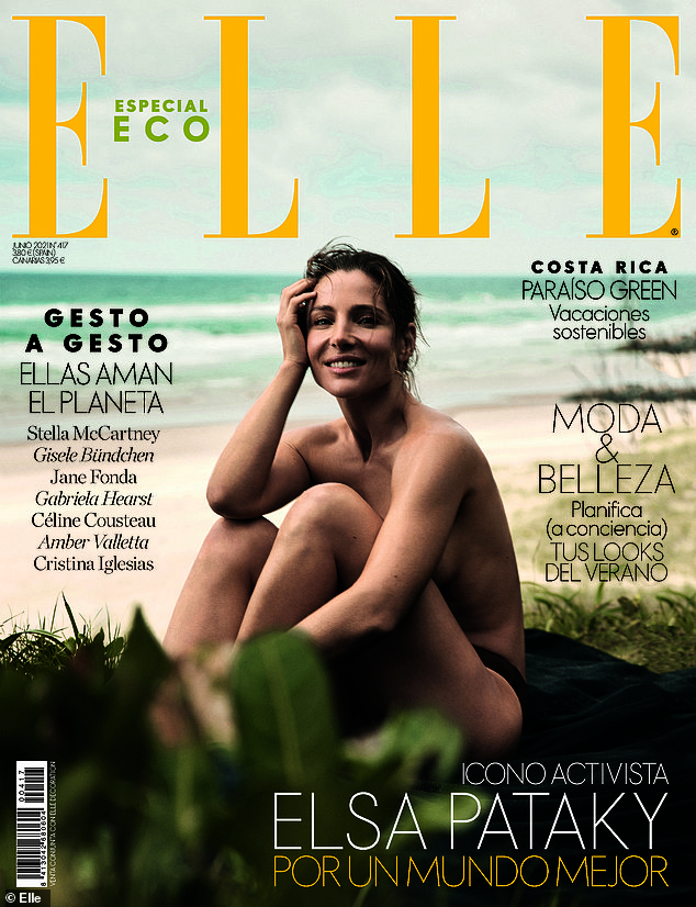 Temperatures soaring!Chris Hemsworth's wife Elsa Pataky, 44, set pulses racing as she posed topless in raunchy cover shoot for Spanish Elle magazine