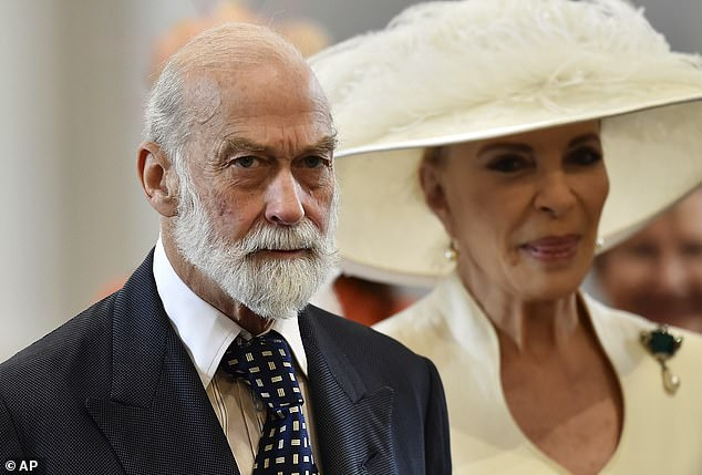 The Prince (pictured with Princess Michael of Kent) has been described as a 'global ambassador' for RemitRadar and is involved in the business with his close friend the Marquess of Reading