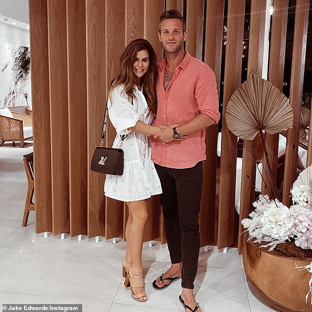 Over:It was announced on May 14 that Jake and his girlfriend Sophie Guidolin had ended their short-lived romance. Pictured in happier times