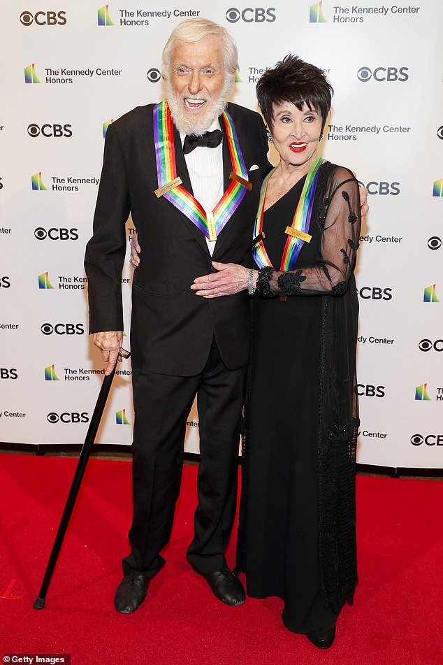 Costars:Dick also posed with his friend and former costar Chita Rivera, who starred opposite him on Broadway in Bye Bye Birdy in 1960