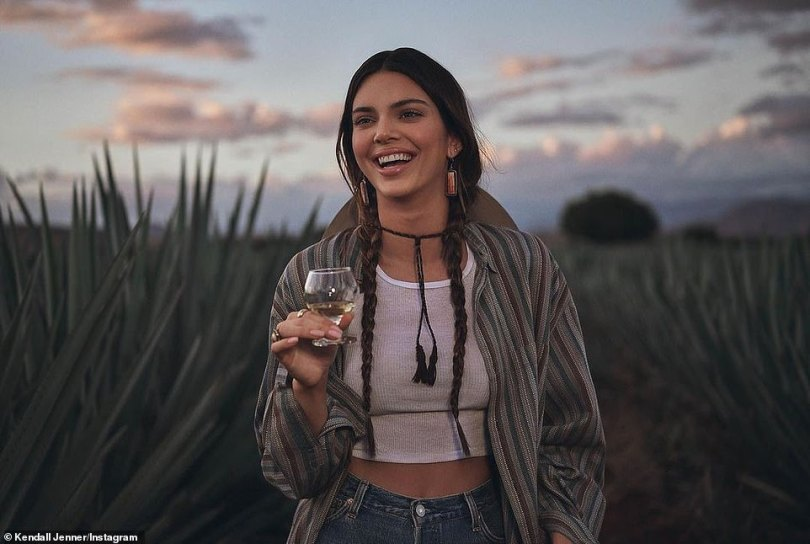 Criticism: The beauty, who was born and raised in the affluent Californian city Calabasas, continues to face backlash and accusations of cultural appropriation after launching an ad for her 818 tequila brand earlier this week