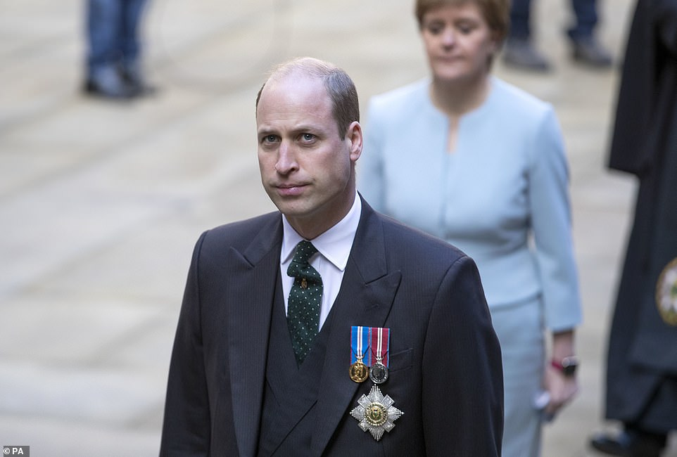 The Duke of Cambridge met the First Minister at the General Assembly of the Church of Scotland in Edinburgh on the second day of his Royal visit