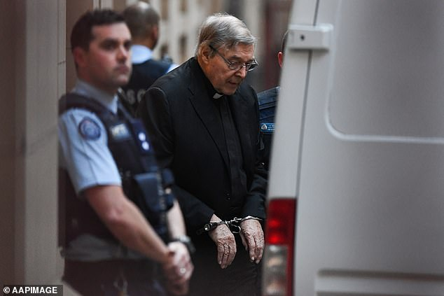 Pell leaves the Supreme Court of Victoria in Melbourne in June 2019 while appealing his conviction for sexually abusing two choirboys