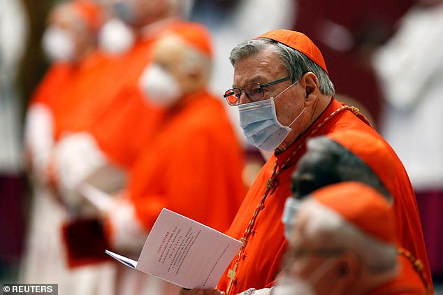 Pell is seen at a consistory ceremony at St Peter's Basilica at the Vatican in November last year