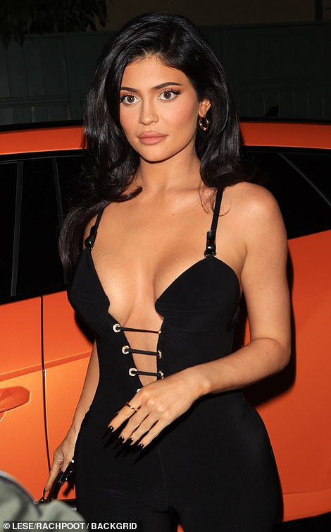 Goodness!Kylie left little to the imagination in her plunging ensemble