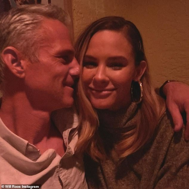 Moving on:'I feel the same as I did before it was finalized ¿ I think it's, like, an energetic closure, which is important...it just ¿ it feels good,' she said of being divorced; pictured with new beau Roos